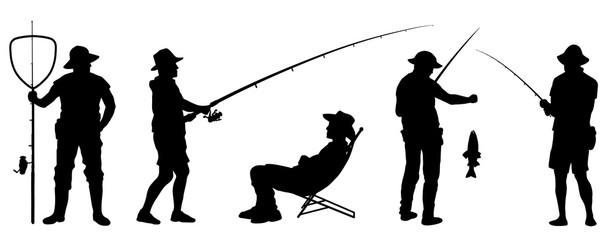fisherman silhouettes