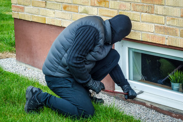 Window side house burglary