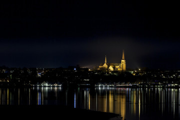 Roskilde Cathedral at Night