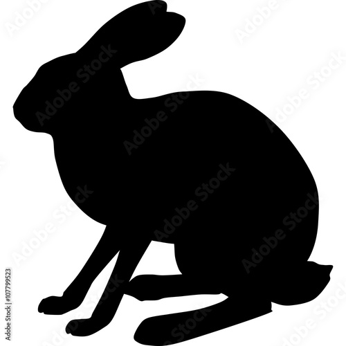 Bunny Silhouette Images Stock Photos amp Vectors  Shutterstock