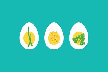 Boiled egg horderves
