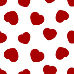 red hearts - seamless pattern
