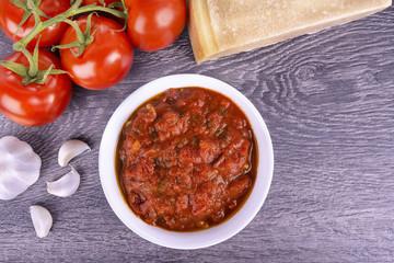 Italian cuisine ingredients