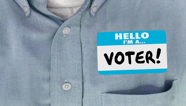 Hello I am a Voter Election Politics Delegate Name Tag Shirt
