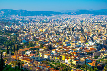 Panorama of Athens, Greece, from the Acropolis