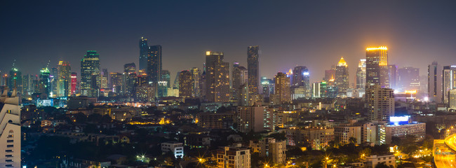 Bangkok cityscape, View high building in the business district a