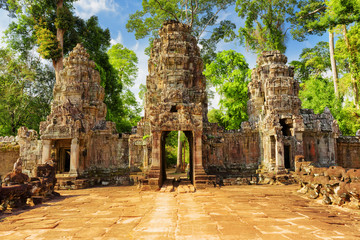 Entrance to mysterious Preah Khan temple. Angkor, Cambodia