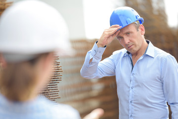 Man wearing hardhat