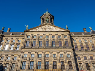 Front of Royal palace in Amsterdam