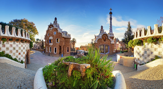 Barcelona, Guell Park, Spain
