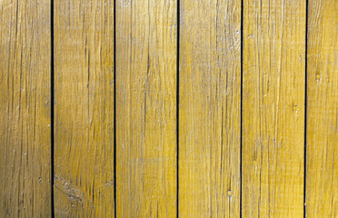 Grungy yellow wooden wall texture.
