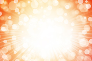 Colorful bokeh background with starburst