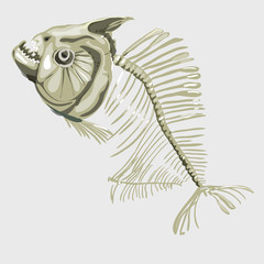 Fish skeleton, icon for other design needs