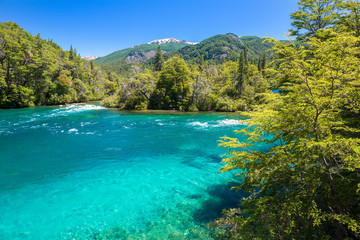 Menendez river, Los Alerces National park in Patagonia, Argentina