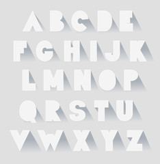 alphabet set with shadows. vector extra bold fat capital letters