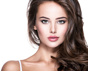 Attractive face of beautiful young  woman