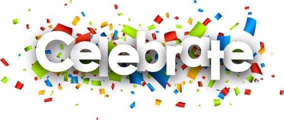 Fototapeta Celebrate paper banner. obraz