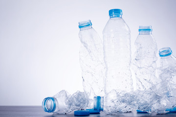 Recycle bottles used plastic