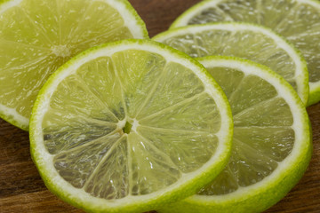 the slices of lime
