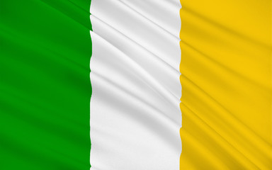 Flag of County Offaly is a county in Ireland