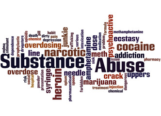 Substance Abuse, word cloud concept 2