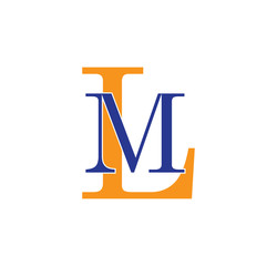 ML logotype simple modern