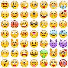 Set of Emoticons. Set of Emoji. Smile icons