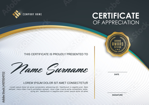 Certificate template with luxury and modern patternqualification certificate template with luxury and modern patternqualification certificate blank template with elegant yadclub