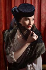 Actress in classic interior