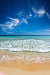An idyllic Sardinia's beach - vertical