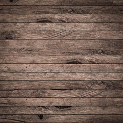 vintage dark brown color wood texture background with vignette:old wooden panel tile