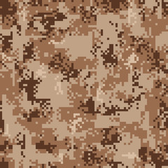 Digital Desert Camouflage Seamless Pattern