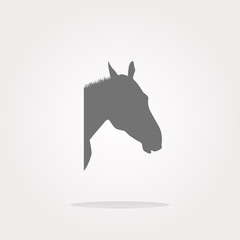 vector horse sign button, web app icon. Web Icon Art. Graphic Icon Drawing