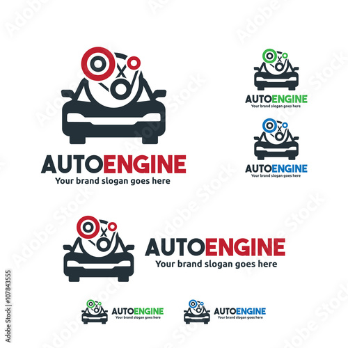 Car Service Logo Car Fix Engine Symbol Stock Image And Royalty