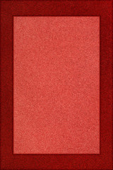 Red textured frame