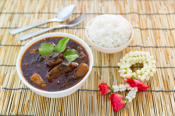 Thai cuisine the Chamuang pork Curry