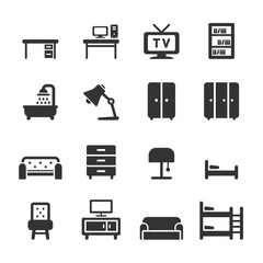 furniture icon set, vector eps10