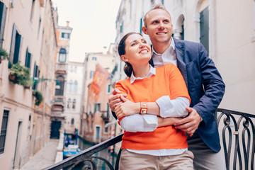 Inlove couple on old Venice street
