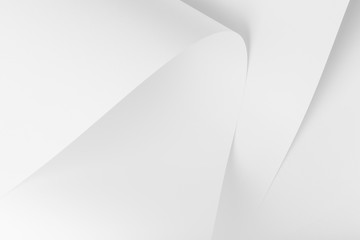 Abstract, background picture of white sheets of paper.