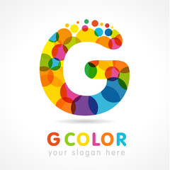 "G colored logo. Government business ""g"" colorful logo vector template"