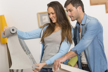 Young couple ready to reform house