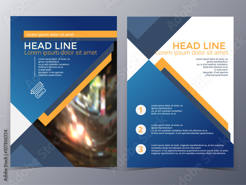 Business And Technology Brochure Design Template Vector Stock