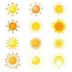 sun flat icons