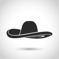 vector black hat icon