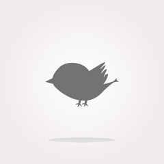 vector Glossy isolated website and internet web icon with bird symbol. Web Icon Art. Graphic Icon Drawing