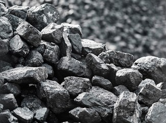 Heap of coal. A place, where coal is stored for selling.