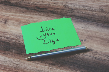 Live your life on paper retro style