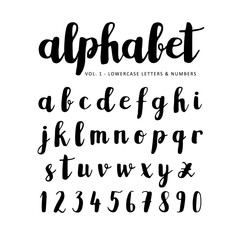 Hand drawn vector alphabet, font, isolated letters written with marker, ink