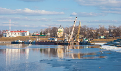 Ancient Russian city Uglich on the Volga River