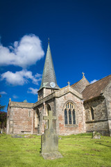 Old English Church and Grave Yard in Somerset